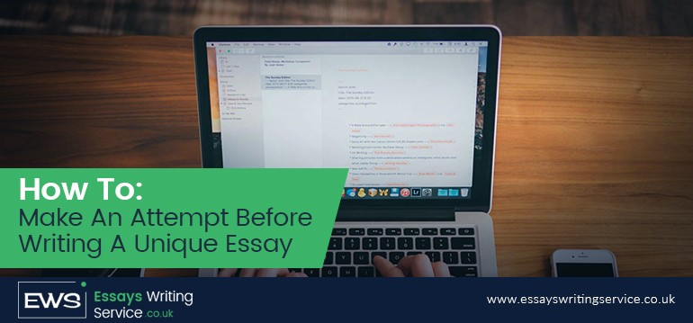 how to make an attempt before writing a unique essay